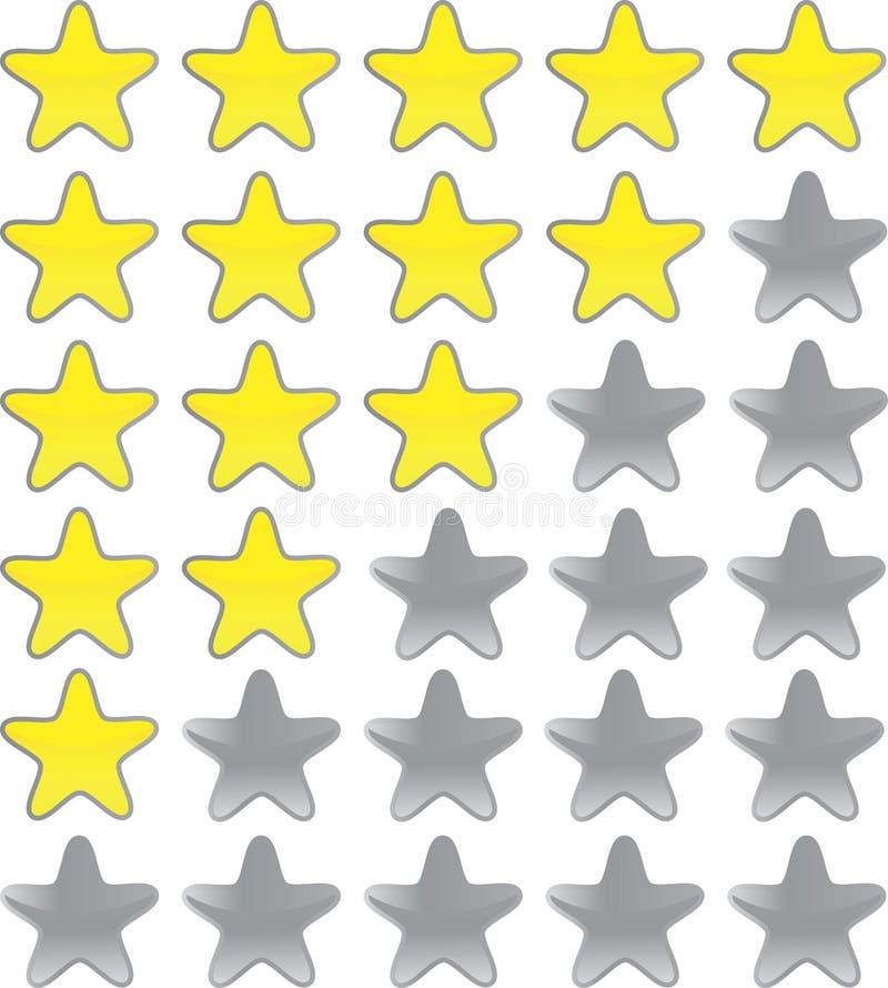 ratingowe gwiazdy ilustracja wektor