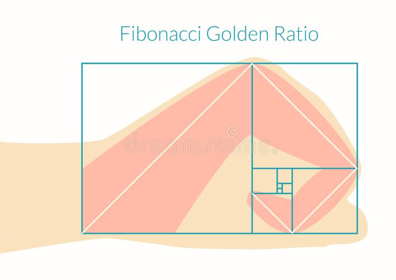Ratio humano de Fibonacci de la mano libre illustration