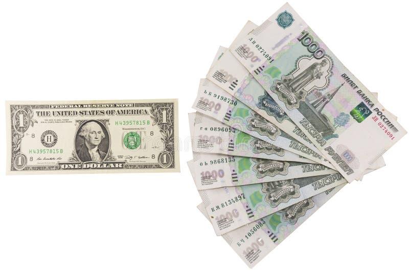 The ratio of ruble against the dollar stock photos