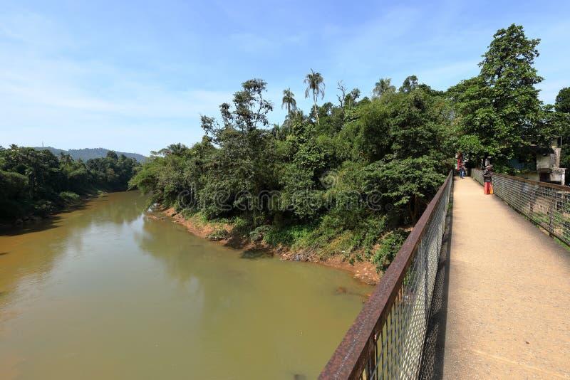 Ratnapura的河Kalu在斯里兰卡 免版税库存照片