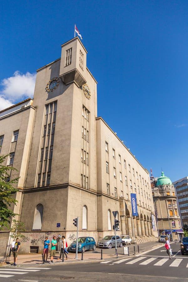 Ratnicki - Veteraanhuis op de Franse Straat in Belgrado, Servië stock afbeeldingen