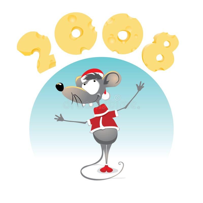 Rato 2008 ilustração stock