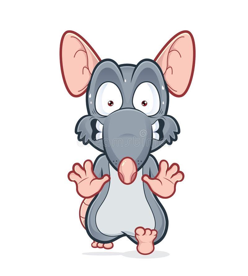 Rato assustado running ilustração do vetor