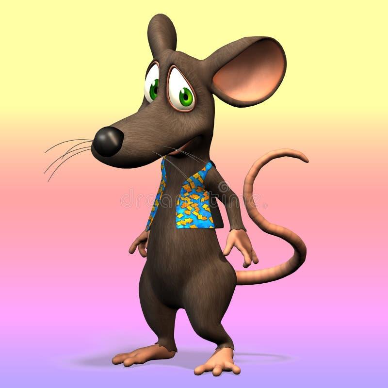 Rato bonito de Toon ilustração stock