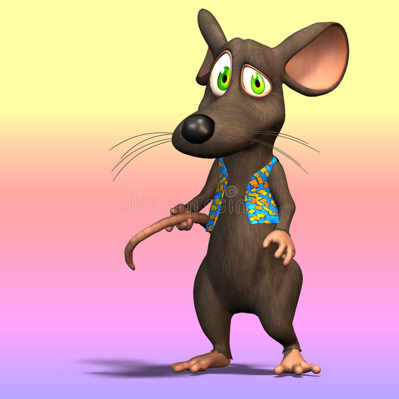 Rato bonito dos desenhos animados ilustração stock