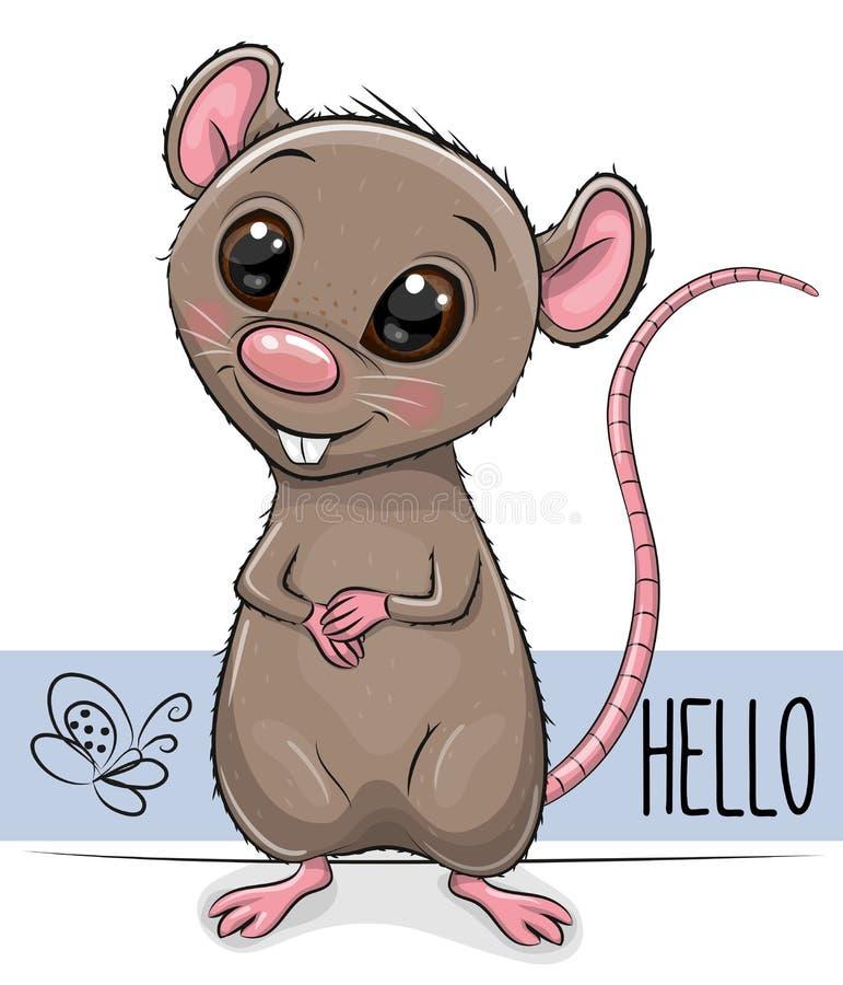 Rato bonito isolado em um fundo branco ilustração royalty free