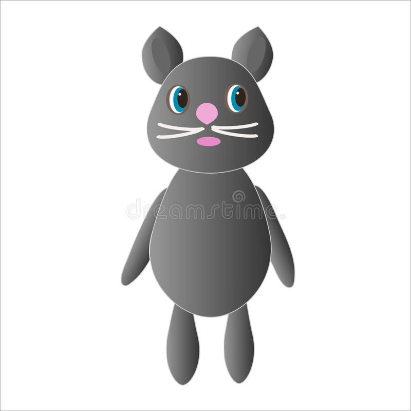 Rato bonito sob a forma de um brinquedo ilustração stock