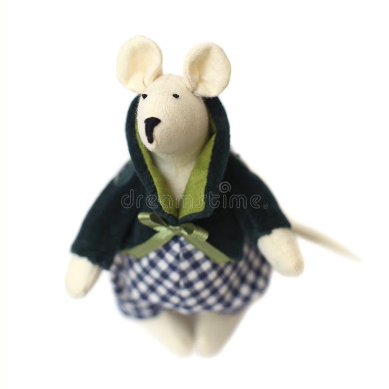 Rato - brinquedo handmade fotos de stock royalty free