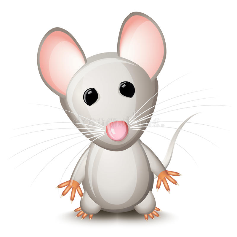 Rato cinzento pequeno ilustração do vetor