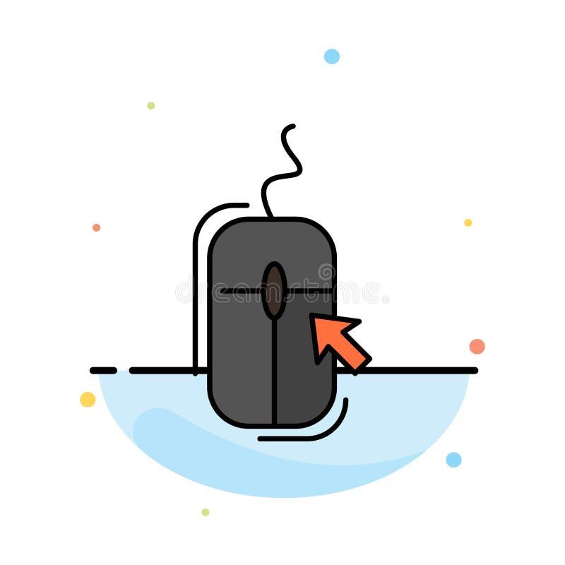 Rato, clique, Internet, molde liso abstrato em linha, comprando do ícone da cor ilustração stock