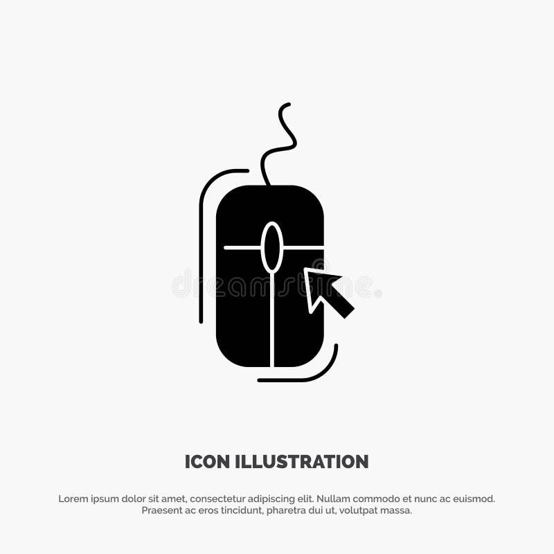 Rato, clique, Internet, vetor contínuo em linha, comprando do ícone do Glyph ilustração do vetor