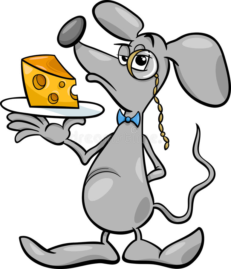 Rato com ilustração dos desenhos animados do queijo