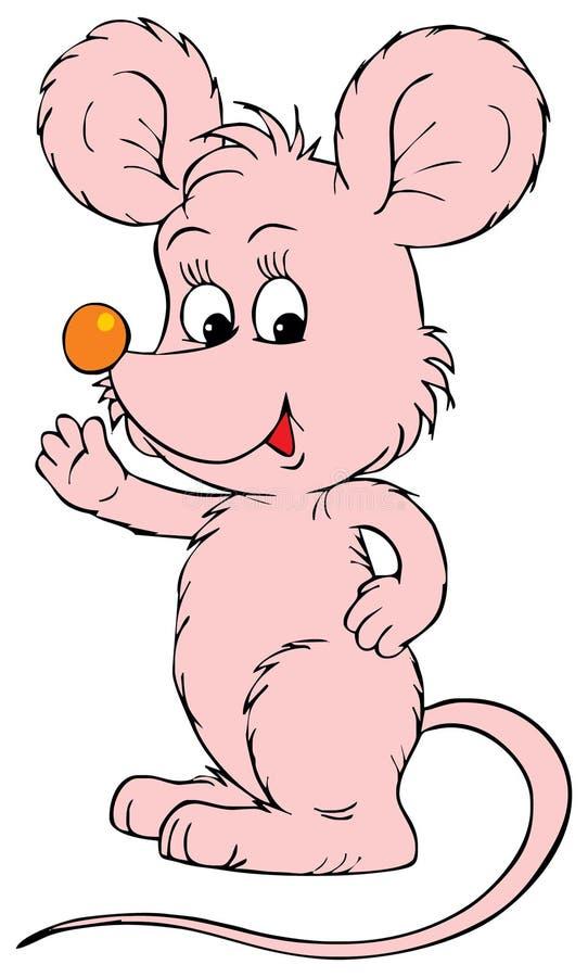 Rato cor-de-rosa (grampo-arte do vetor)
