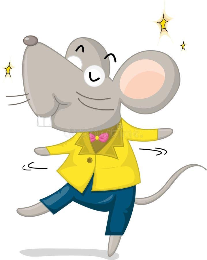 Rato da dança ilustração royalty free