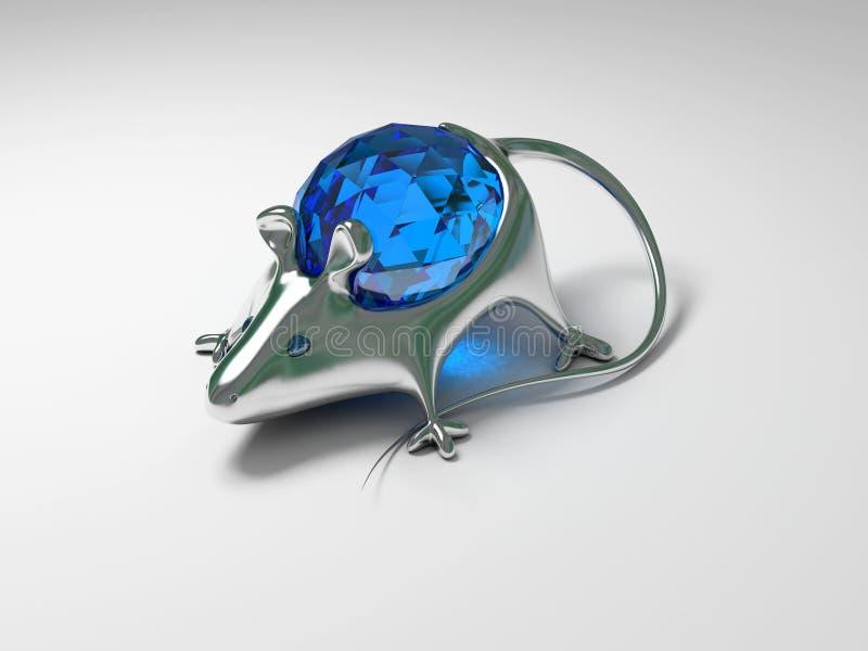 Rato da decoração da jóia com diamante