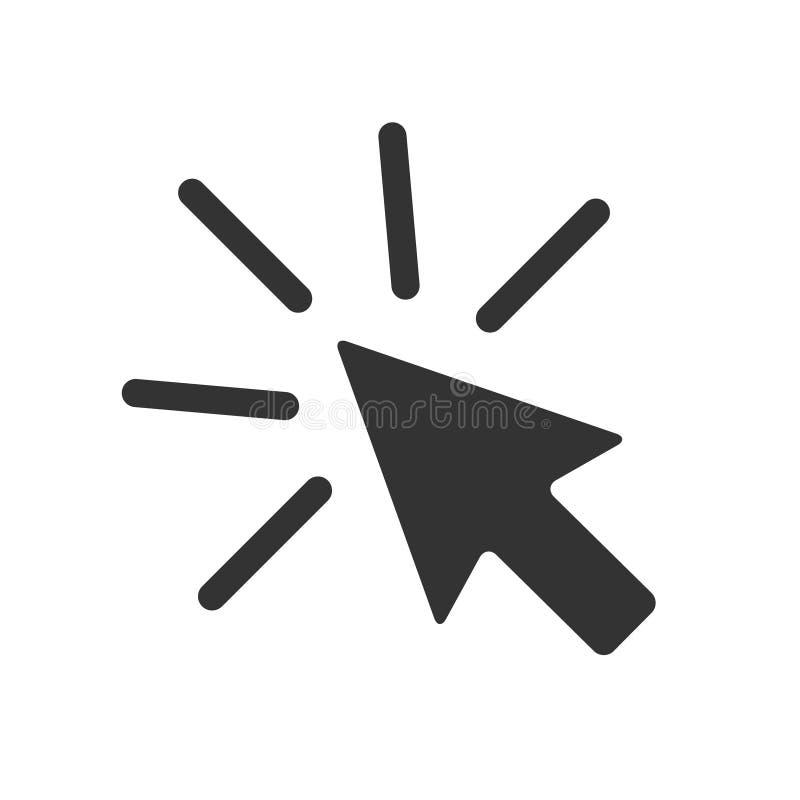 Rato da seta do ícone do clique no fundo branco Ilustração do vetor ilustração do vetor