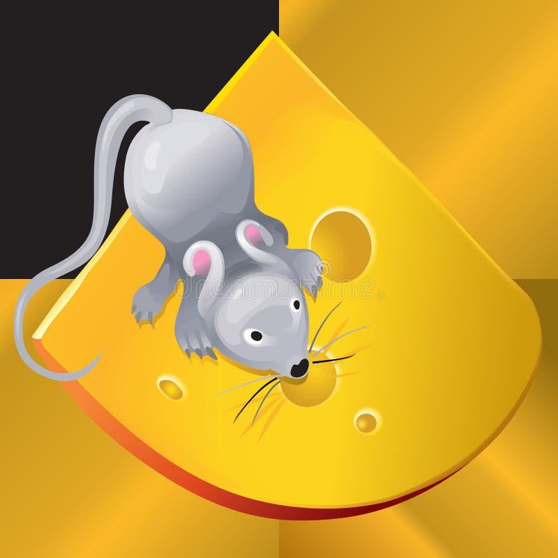 Rato de Cheese_and_ imagens de stock