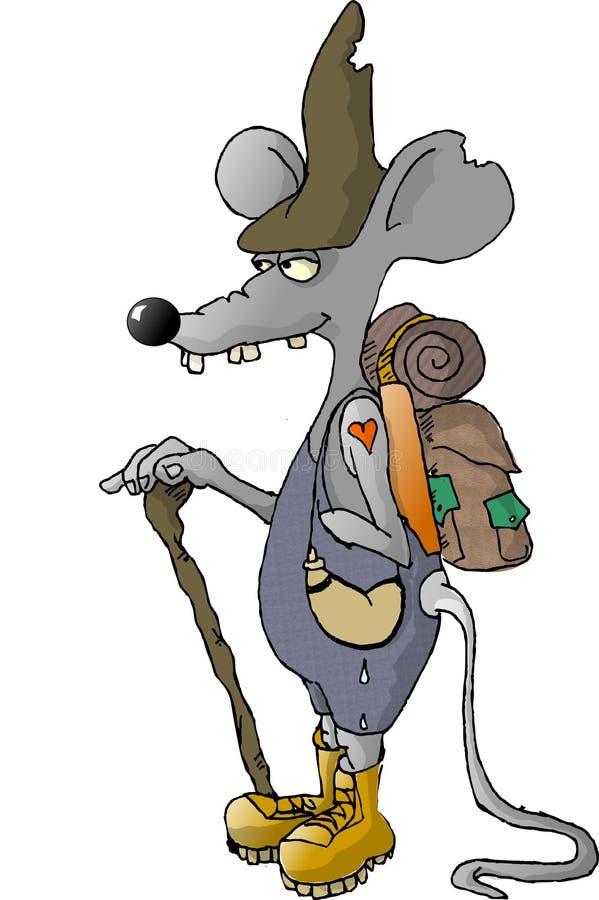 Rato de deserto ilustração stock