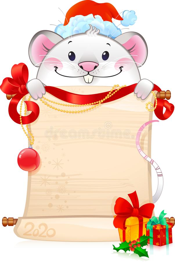 Rato de metal branco - símbolo do horóscopo chinês para o ano novo ilustração royalty free