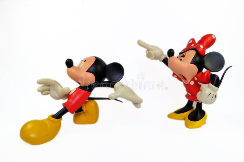 Rato de Mickey e de Minnie imagens de stock