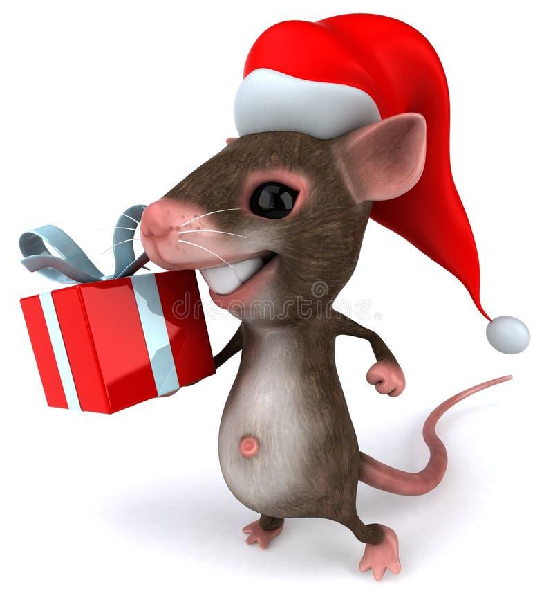 Rato de Santa ilustração royalty free