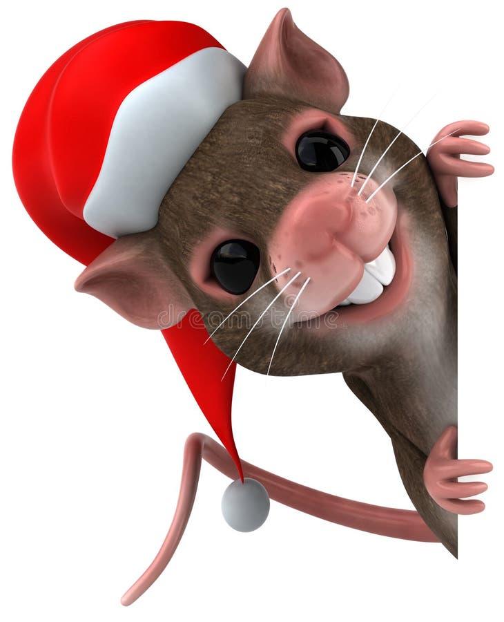 Rato de Santa ilustração stock