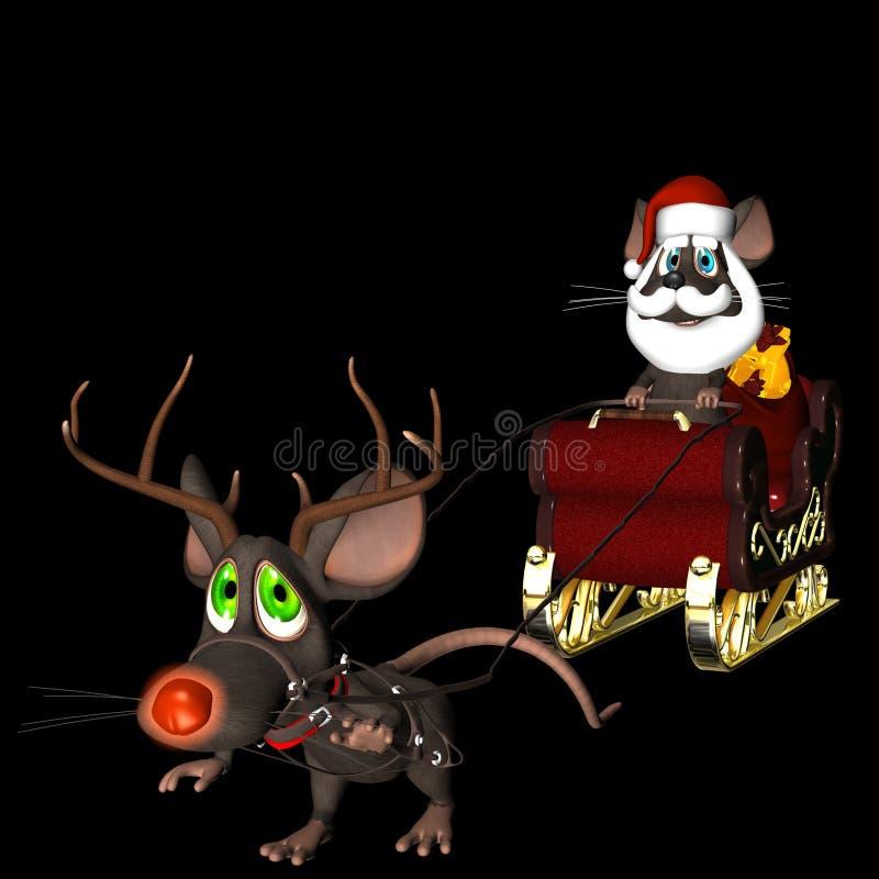 Rato de Santa e rato da rena ilustração stock