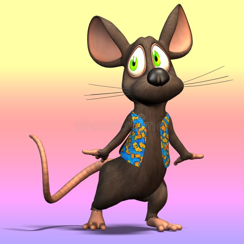 Rato de Toon ilustração royalty free