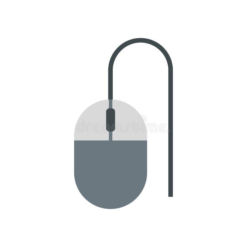 Rato do ícone do computador, estilo liso ilustração royalty free
