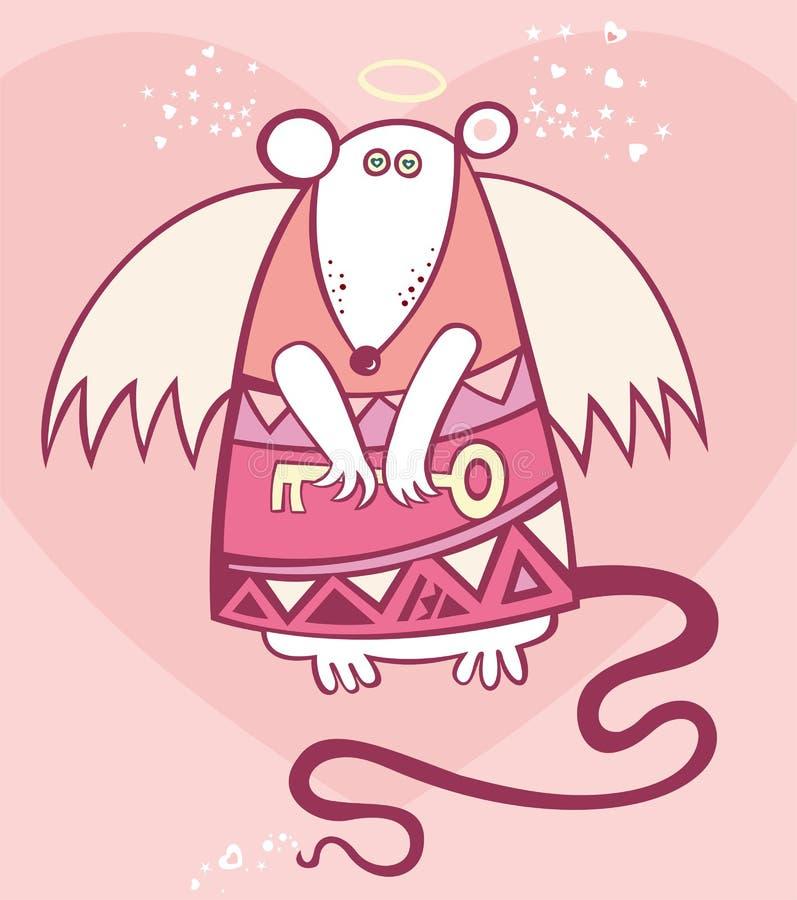 Rato do anjo do Valentim ilustração stock