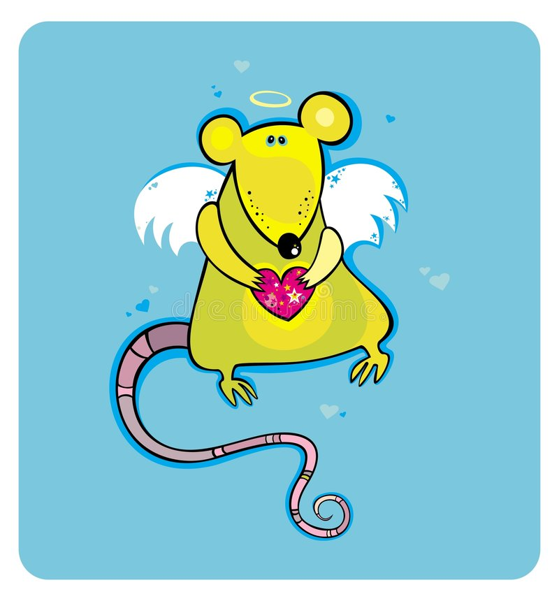 Rato do cupid do dia do Valentim ilustração do vetor