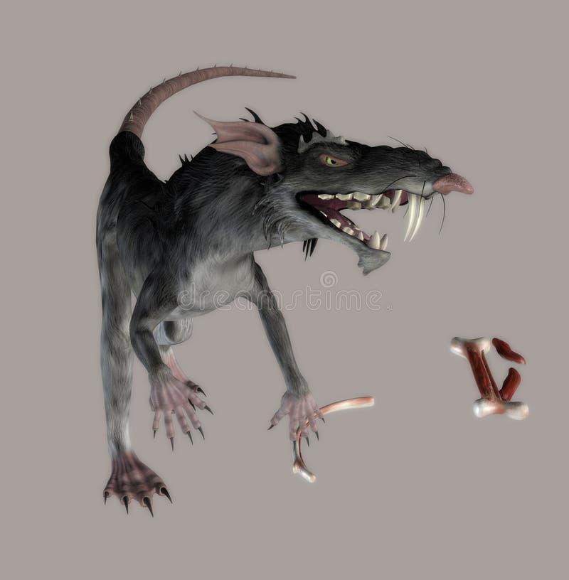 Rato do monstro ilustração stock