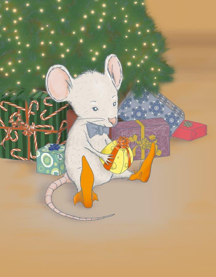Rato do Natal ilustração do vetor
