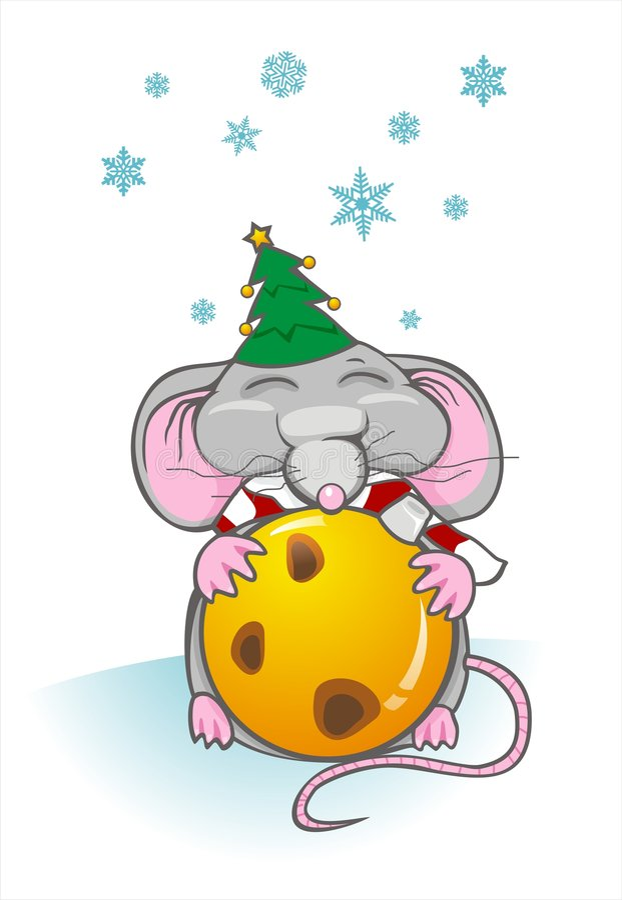 Rato do Natal ilustração royalty free