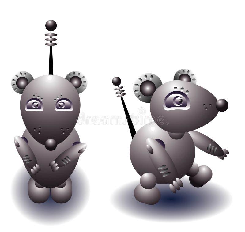 Rato do robô ilustração do vetor