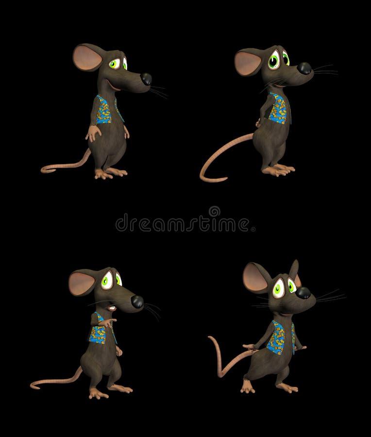 Rato dos desenhos animados - bloco 2b ilustração stock