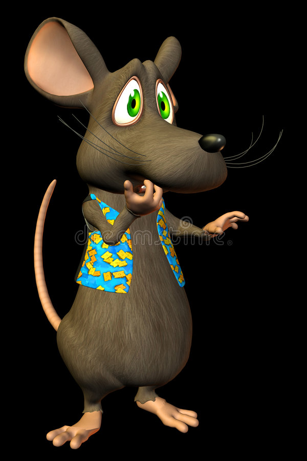 Rato dos desenhos animados - oh No. ilustração royalty free