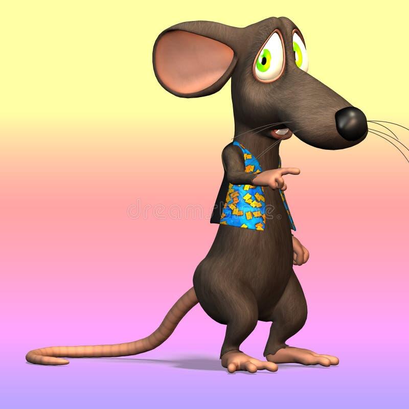 Rato dos desenhos animados ou rato #07 ilustração royalty free