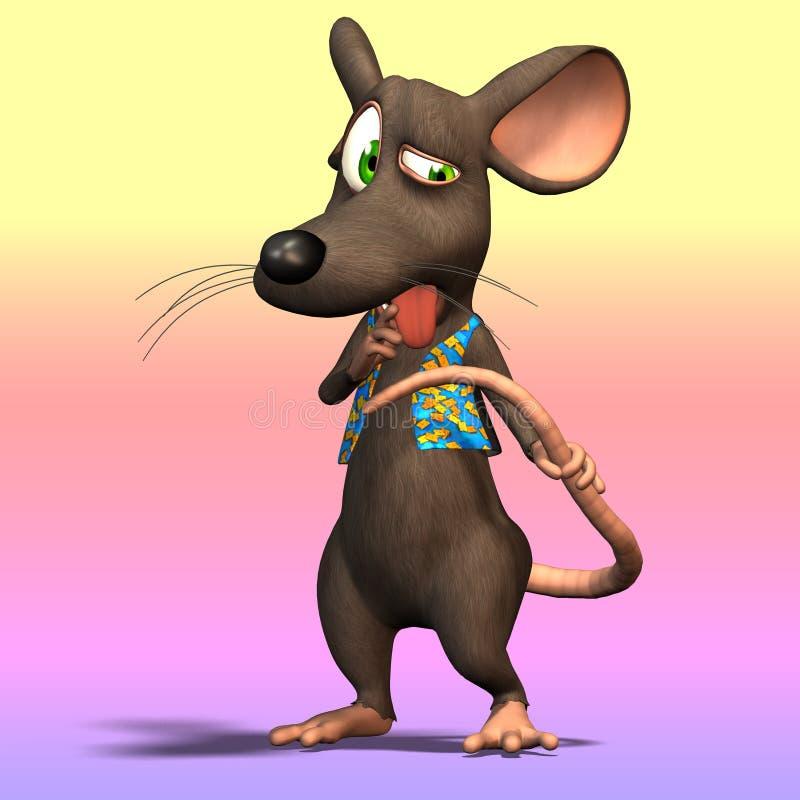 Rato dos desenhos animados ou rato #10 ilustração do vetor