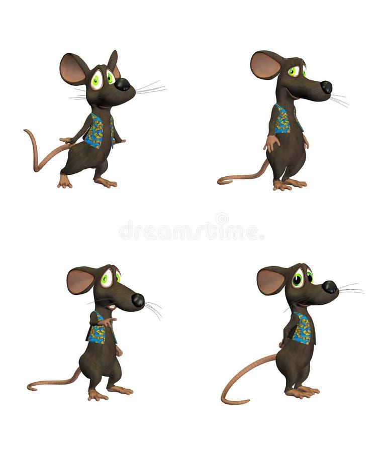 Rato dos desenhos animados - pack2 ilustração stock