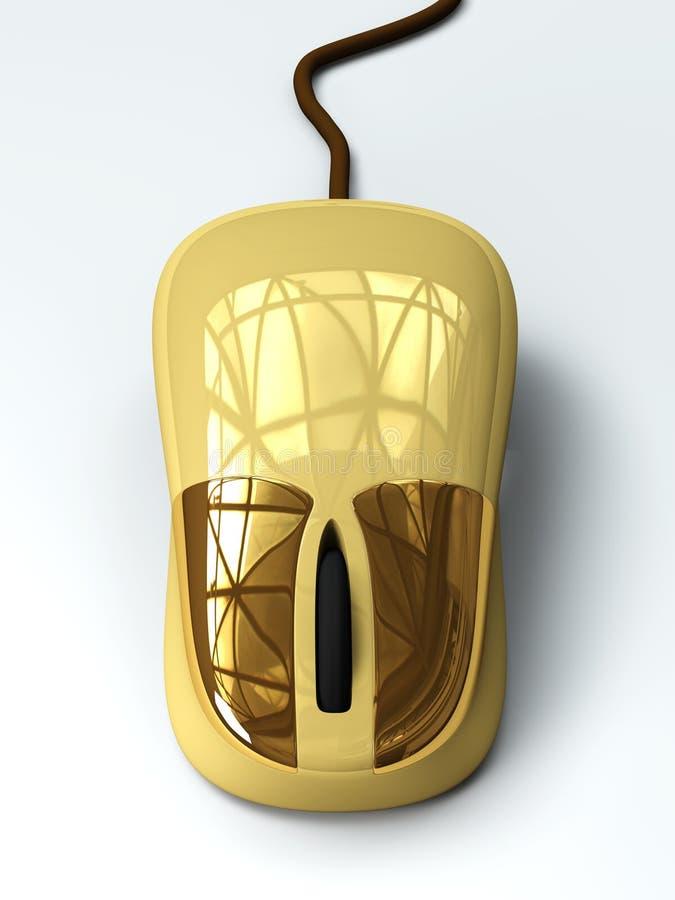 Rato dourado ilustração stock