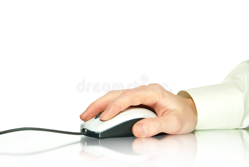 Rato e mão do computador fotos de stock royalty free