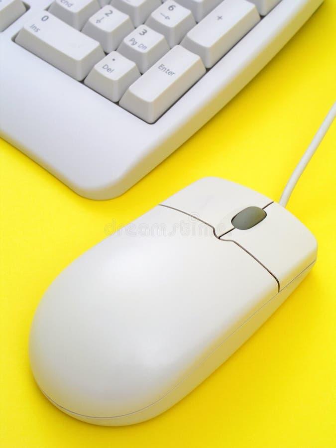Rato e teclado do computador imagens de stock royalty free