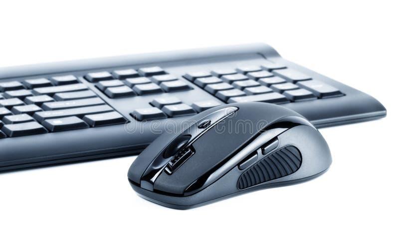 Rato e teclado sem fio fotografia de stock