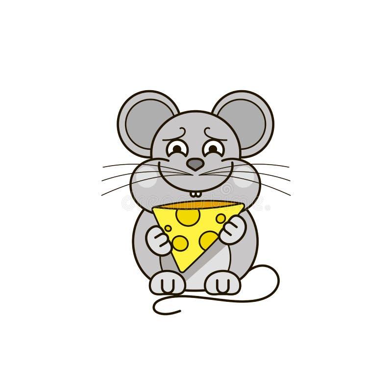 Rato engraçado e bonito ilustração royalty free