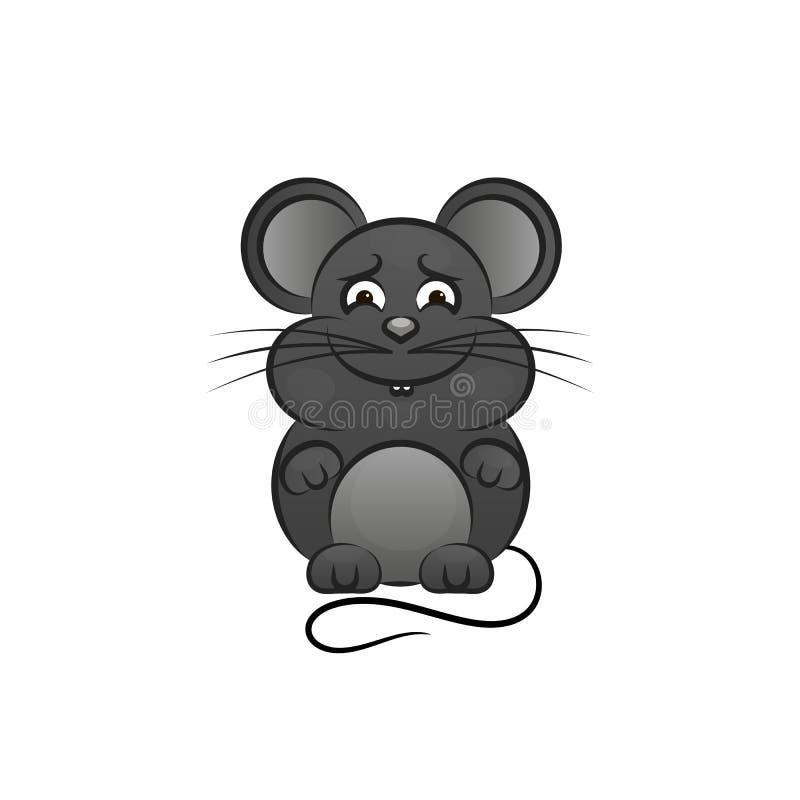 Rato engraçado e bonito ilustração do vetor
