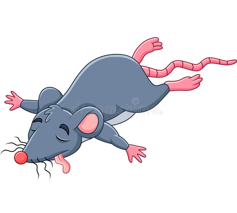 Rato inoperante dos desenhos animados ilustração stock