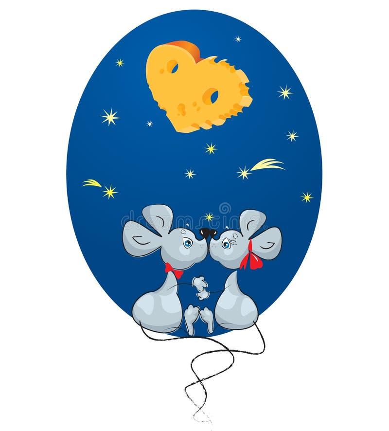 Rato masculino e um rato fêmea ilustração stock