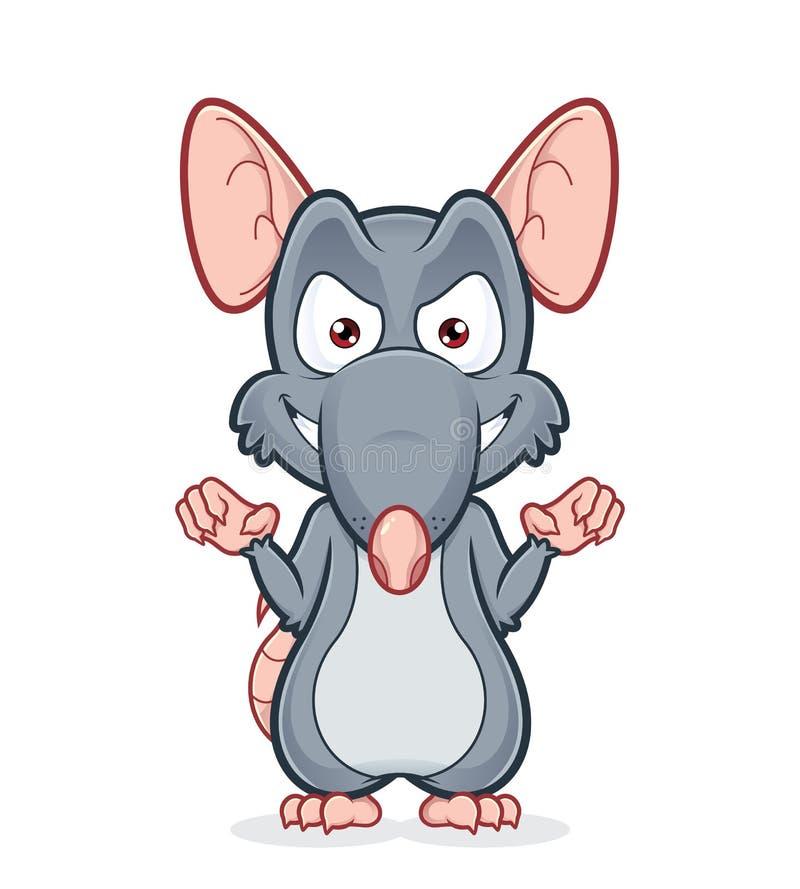 Rato mau ilustração do vetor