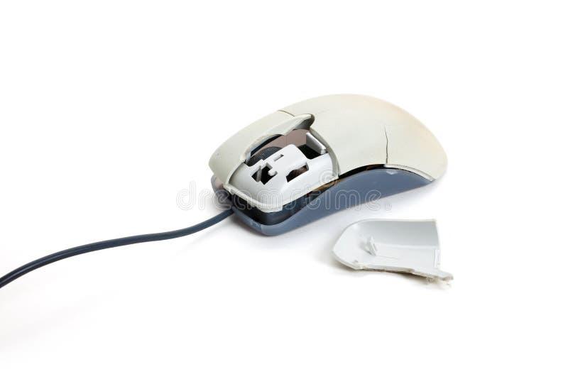 Rato quebrado do computador imagens de stock
